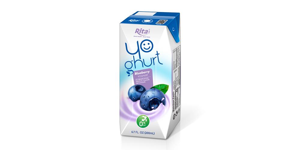 Aseptic 200ml blueberry Yoghurt