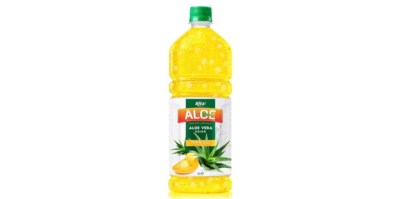 Aloe vera 1L with mango flavored drinks