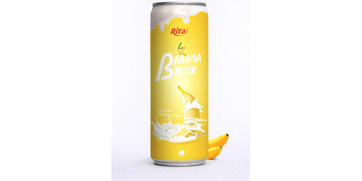Juice packaging design Banana milk drink