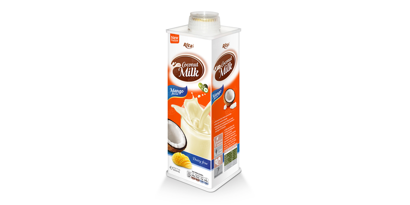 Real fruit juice  Coconut milk mango
