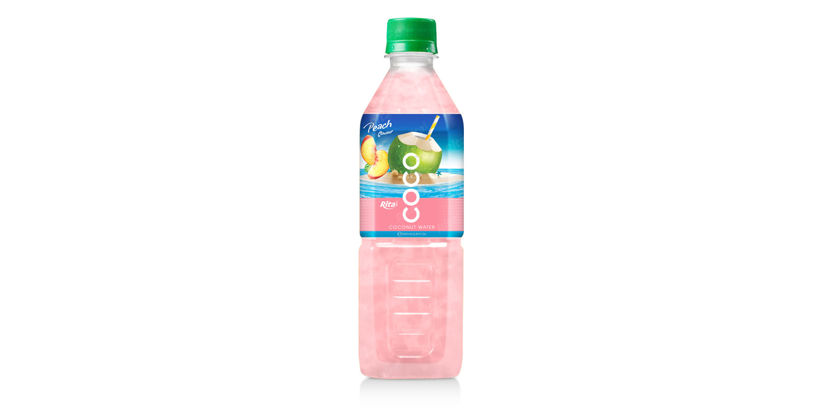 good juice Coconut water with peach flavor 500ml