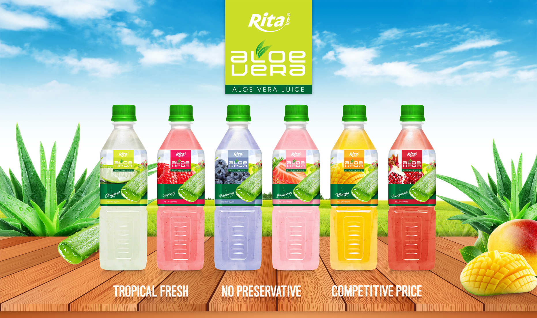 Aloe vera pomeganate  flavor 500ml Pet Bottle