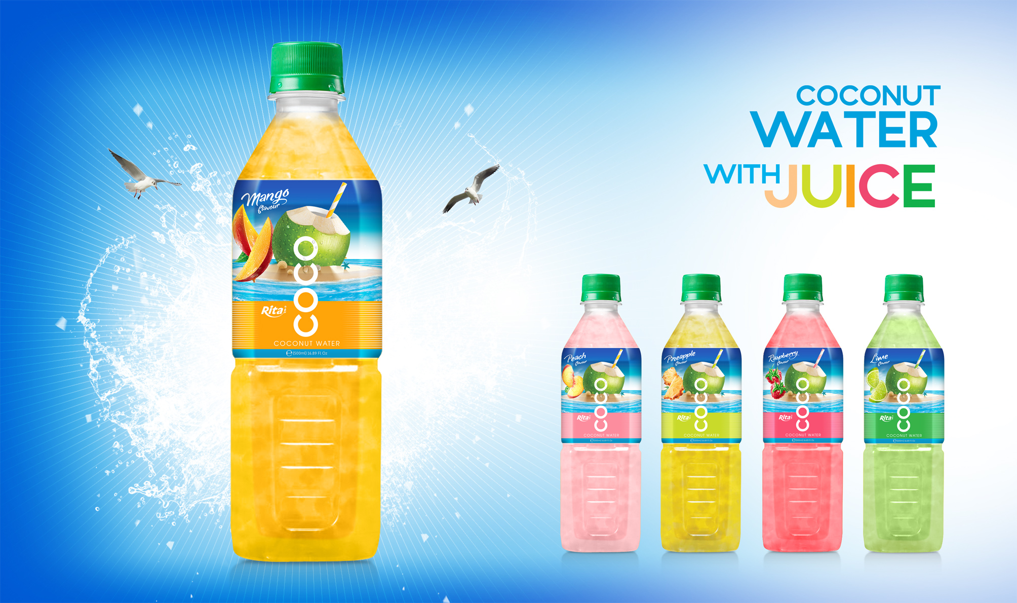 healthy drinks  Coconut water with pineapple Pet bottle
