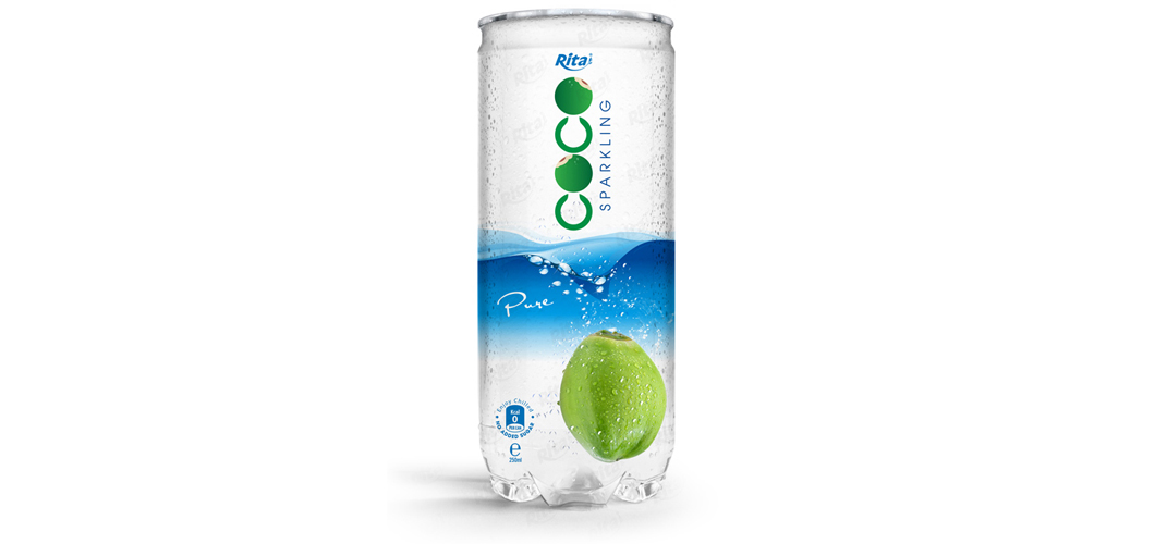 Pure sparking coconut water