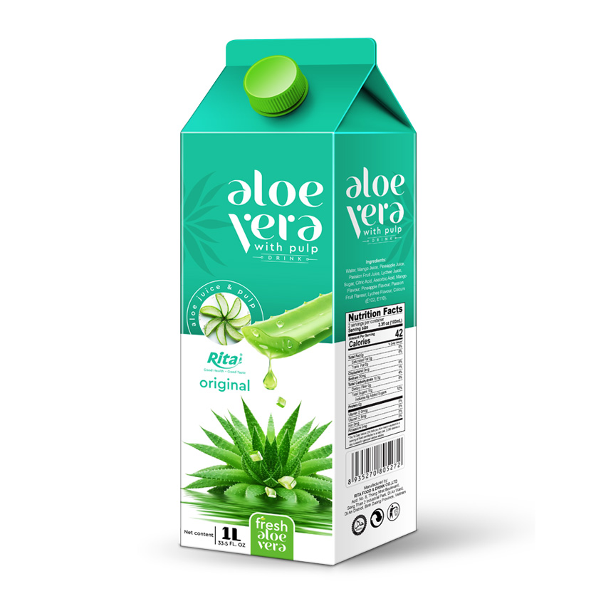 Aloe Vera With Pulp 1000 ml Paper Box