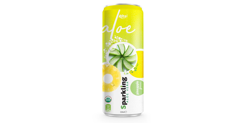 Private label brand Sparkling aloe vera pinapple 320ml