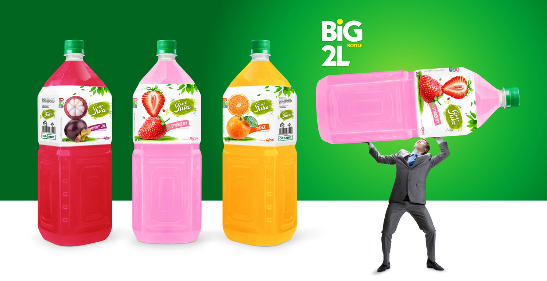 Fruit juice strawberry Pet 2L