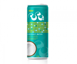Carbonated coconut water
