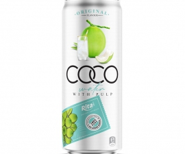 Coconut water with Pulp 330 ml Canned Rita Brand
