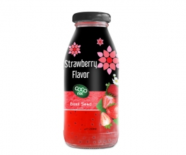 basil seed with strawberry  flavor 250ml glass bottle
