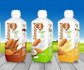 Almond milk drink with  vanilla flavor