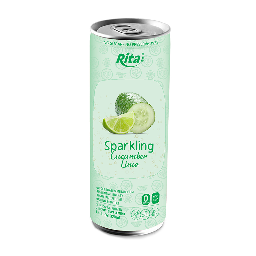 Sparkling cucumber lime