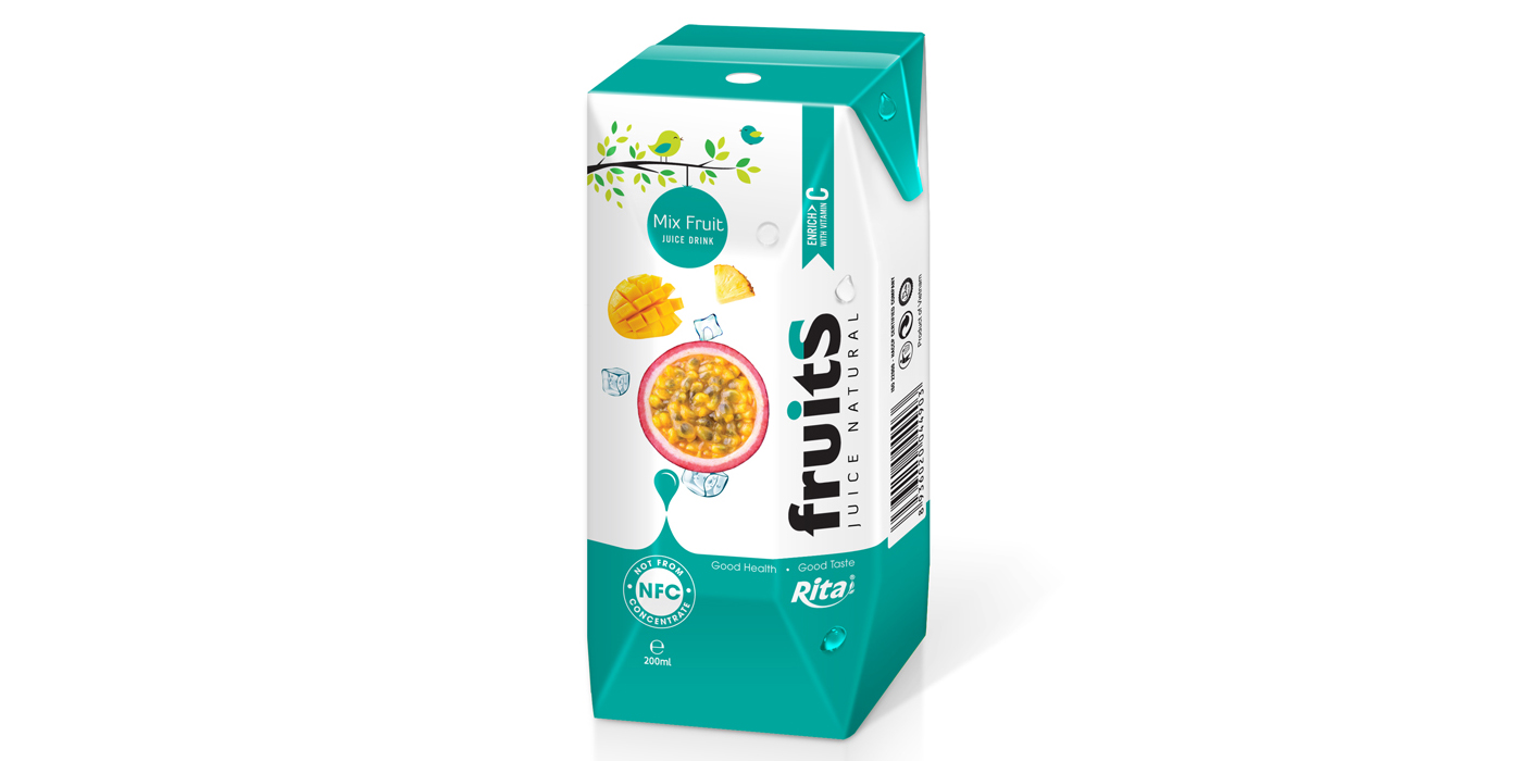 Mix fruit juice Aseptic 200ml from Juice