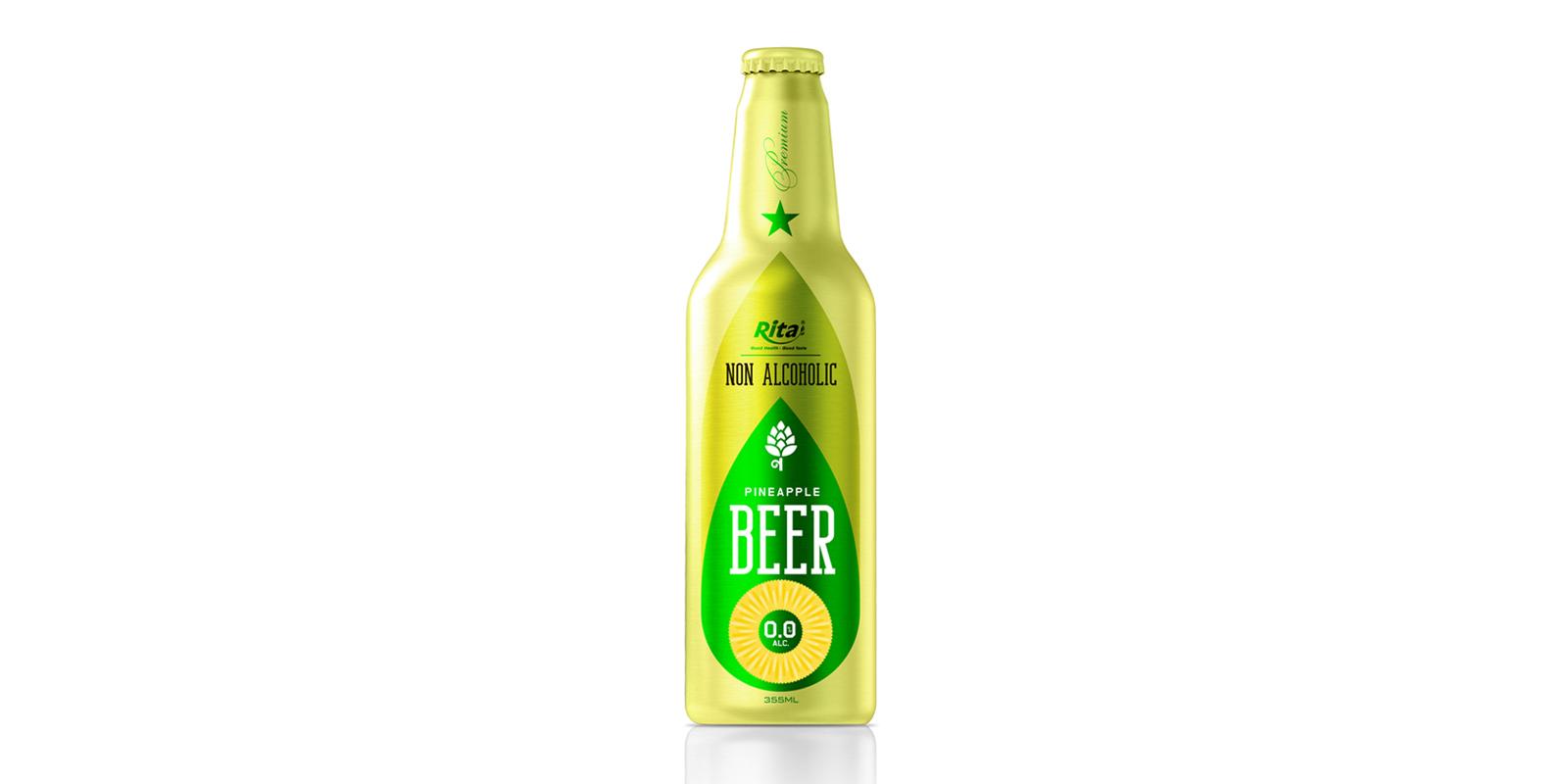 Aluminum Bottle 355ml Pineapple Beer Non Alcoholic