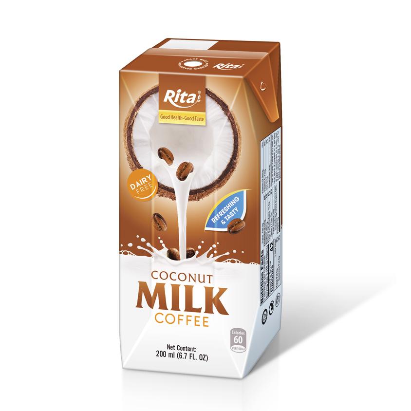 Coconut milk coffee 200ml Paper pak Rita brand