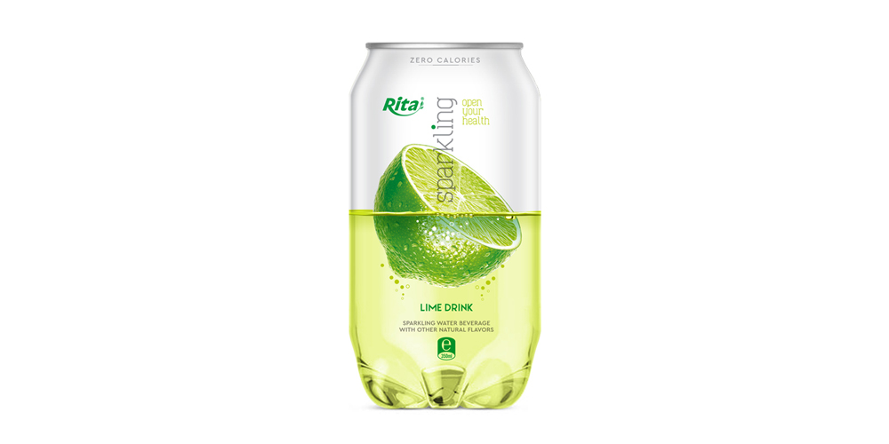 Pet can 350ml Sparkling drink with lime  flavor