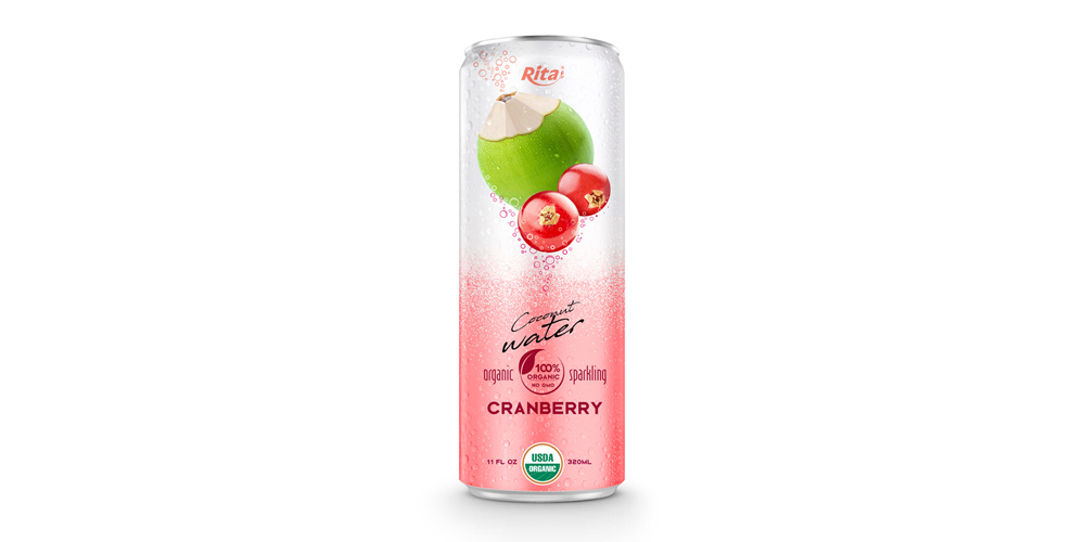 320ml Coconut Organic Sparkling with cranberry