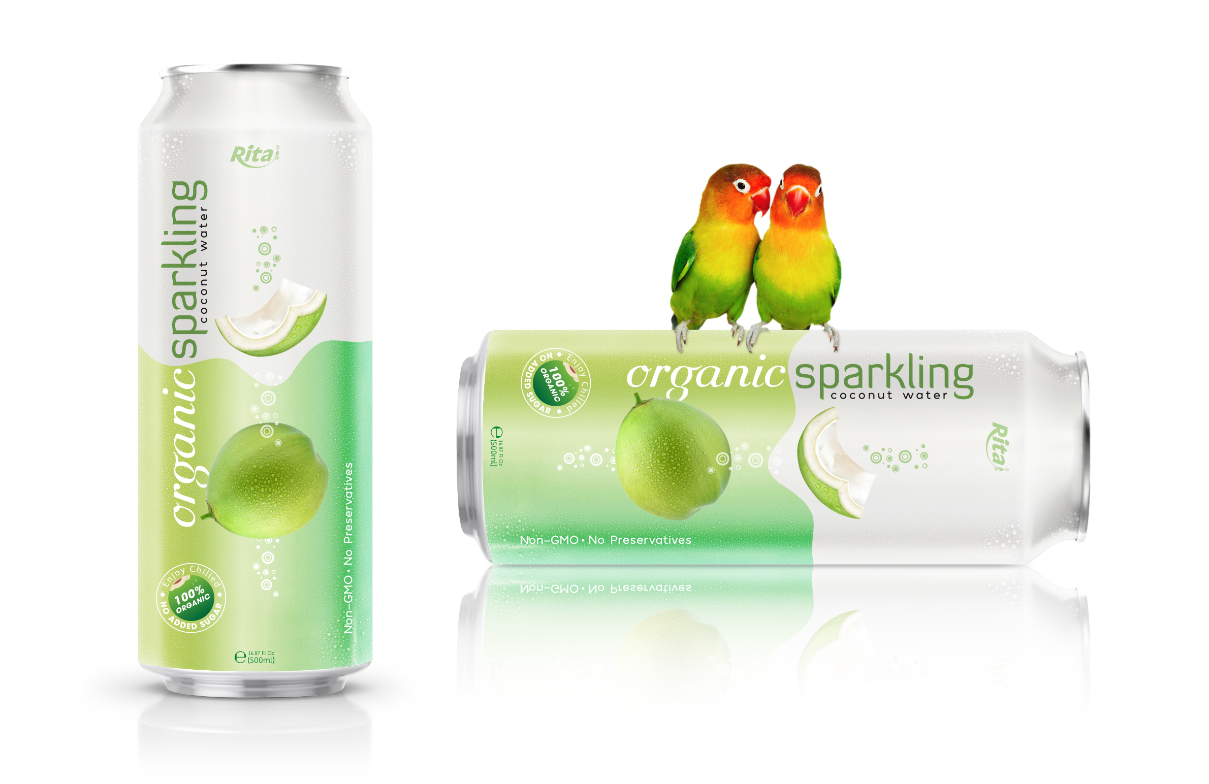 Organic Sparkling Coconut water