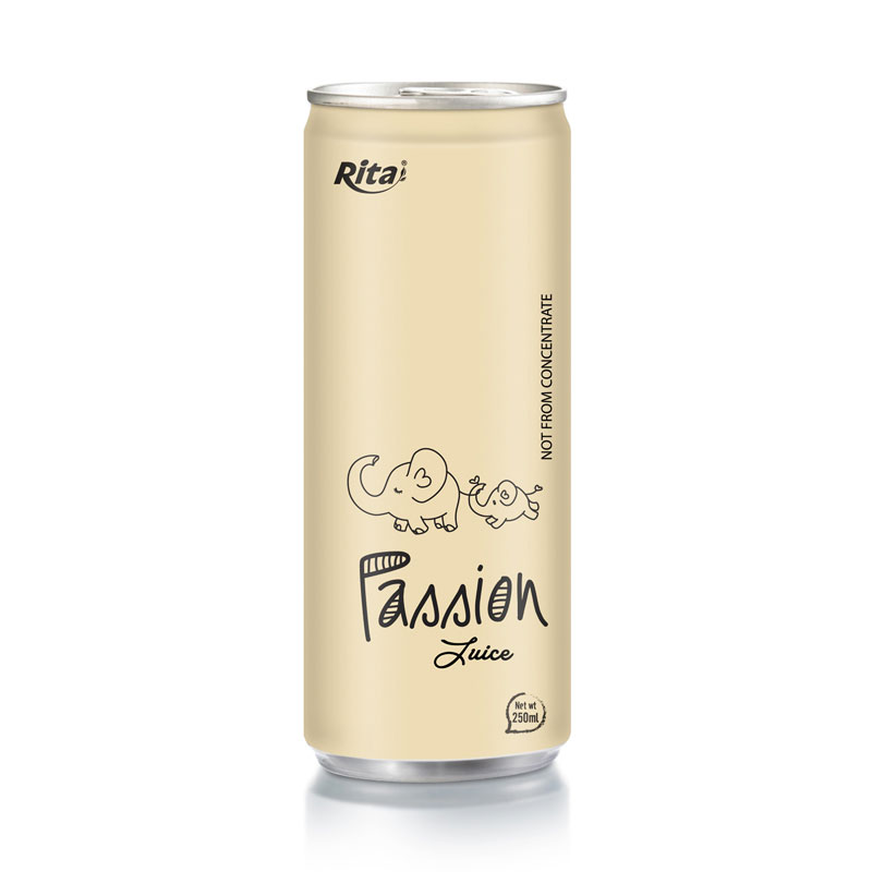RITA BEVERAGE PASSION FRUIT JUICE DRINK 250ML CANNED