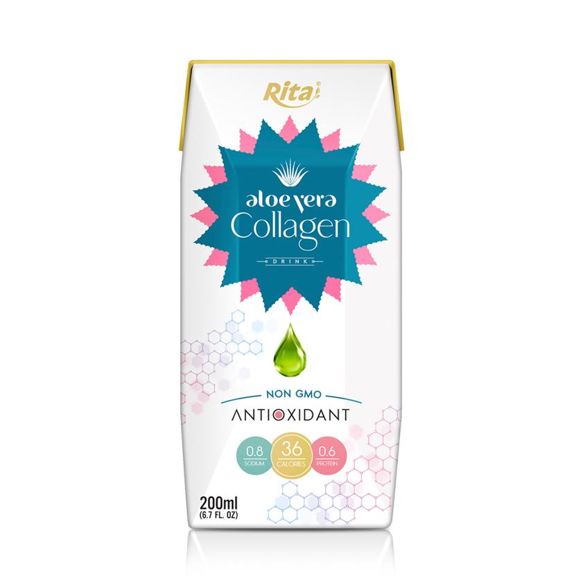 Aloe Vera Collagen Drink 200 ml Paper Box Rita Brand