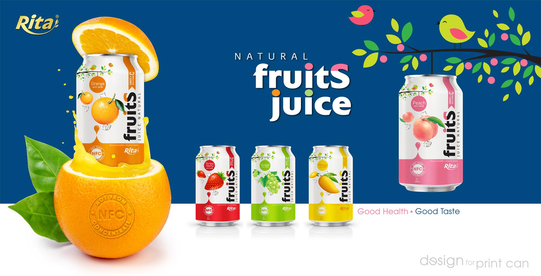 Strawberry juice 330ml fruit drinks brands