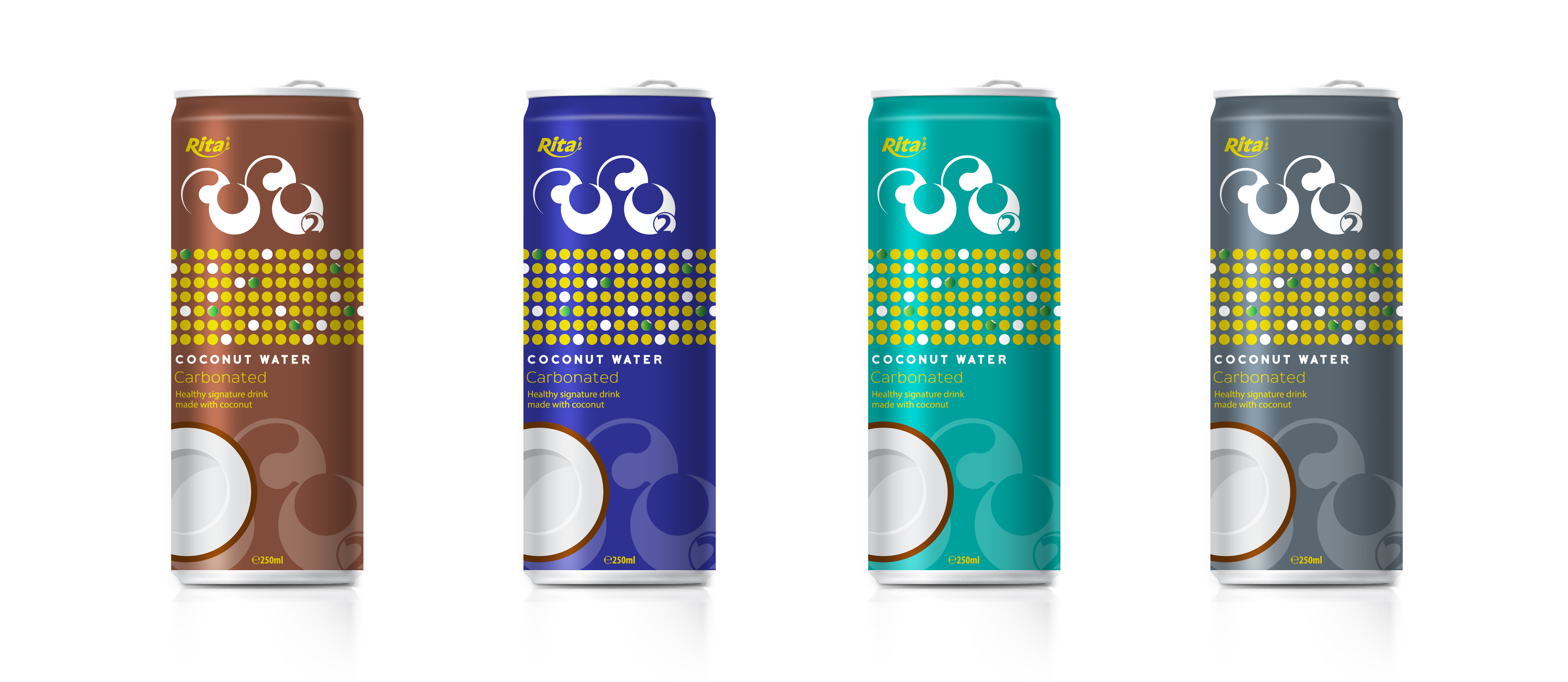 Carbonated coconut water 330 ml Canned Brand