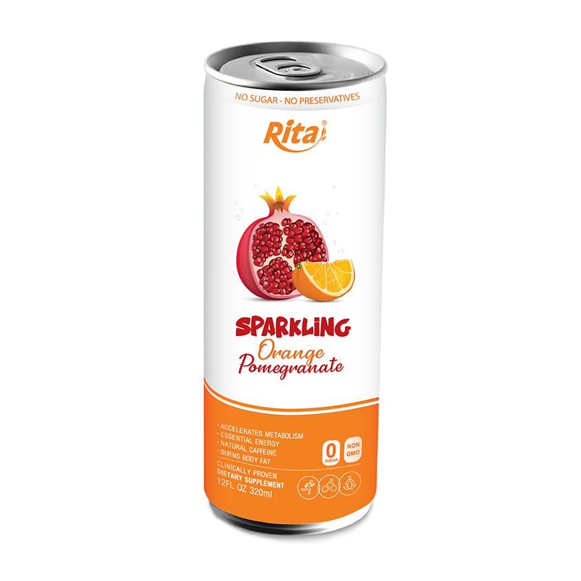 Rita Manufacturer 250ml Canned Sparkling Pomegranate and Orange juice drink