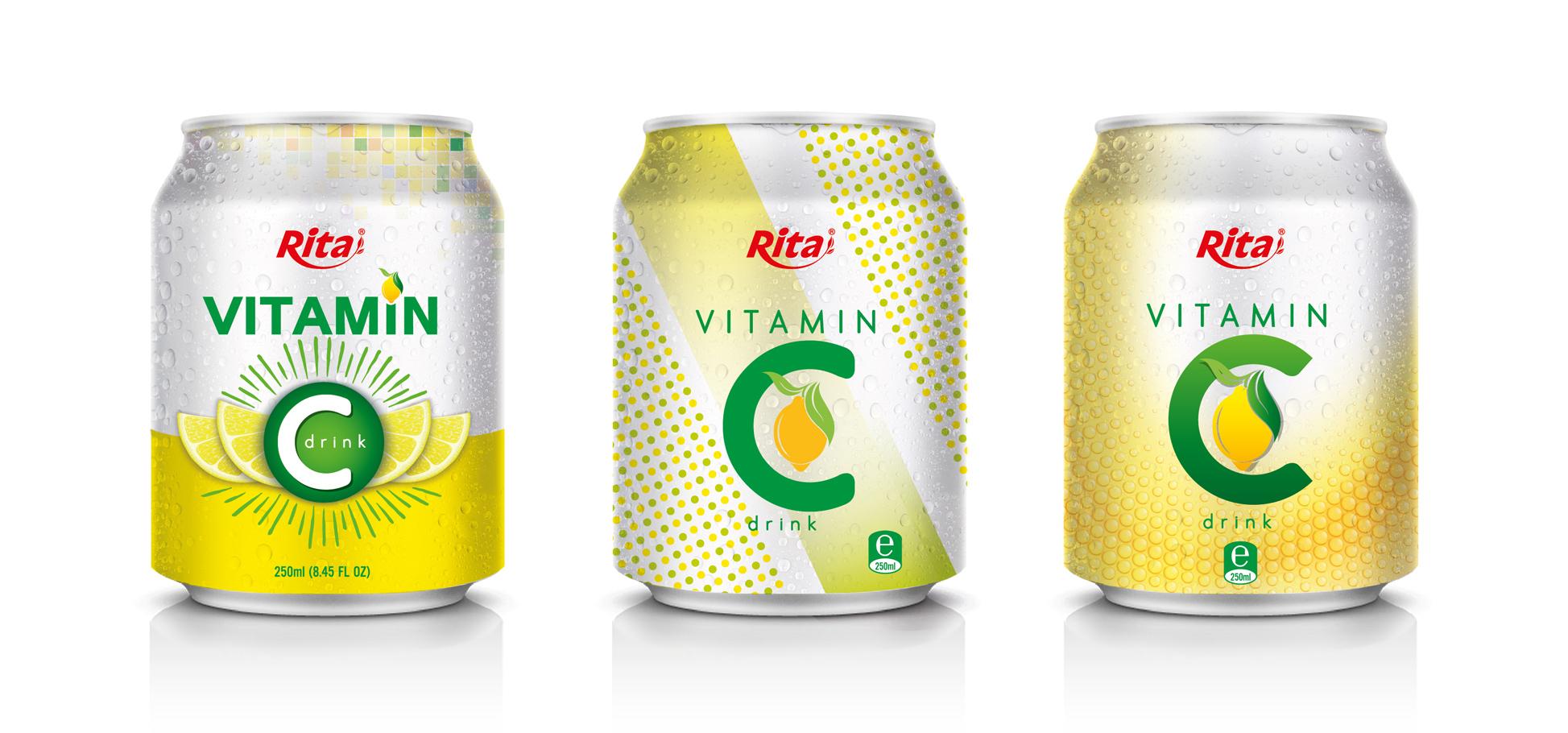vitamin C drink 250ml can
