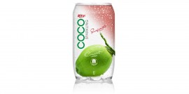 Sparking coconut water  with pomegranate  juice