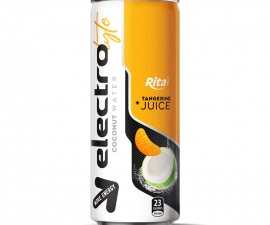 OEM BRAND 250 ML CANNED ELECTROLYTE COCONUT WATER WITH TANGERINE JUICE