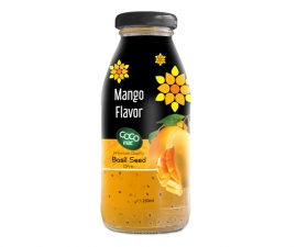basil seed with lychee flavor 250ml glass bottle